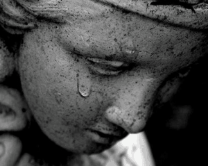 Crying statue